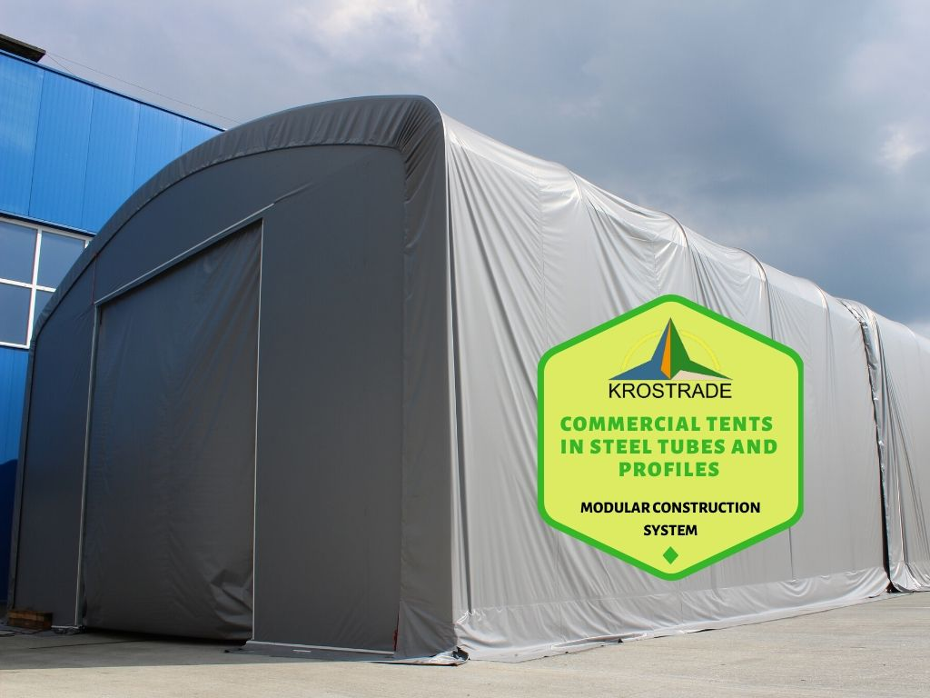 Commercial Tents In Steel Tubes And Profiles - Krostrade