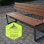 Street Furniture In Summer