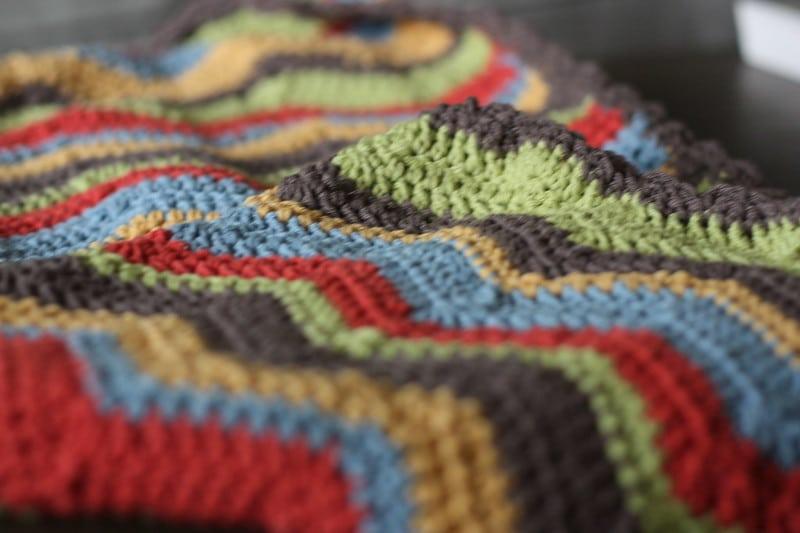 how to wash acrylic yarn blanket