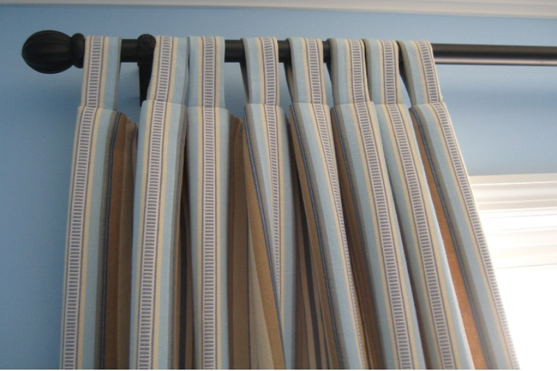 how to make tabbed curtains