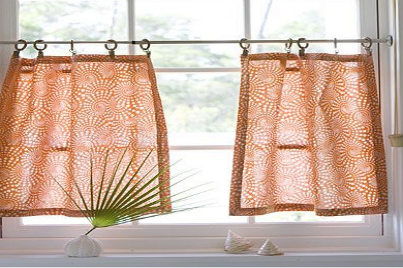 How to sew cafe curtains