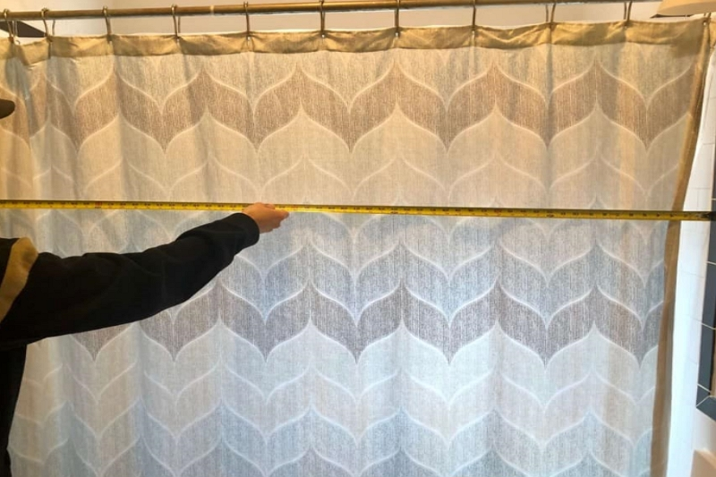 How long are shower curtains