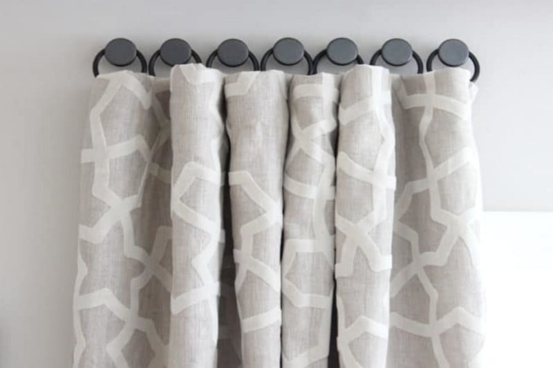 How to hang curtains without curtain rods