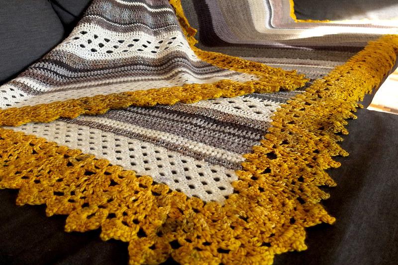 how to clean crochet blanket