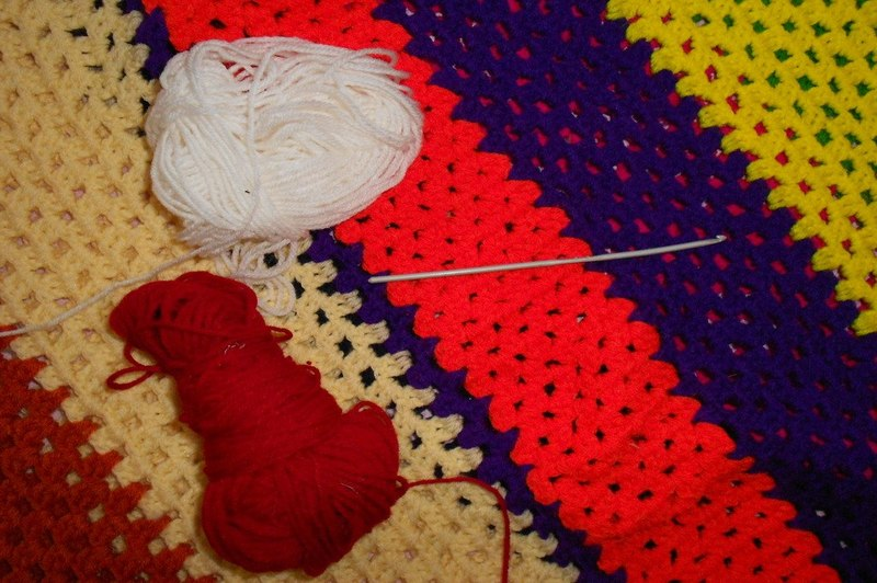 how to crochet a name on a blanket