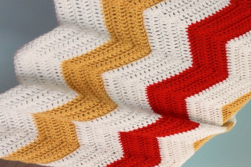 how to crochet a simple blanket