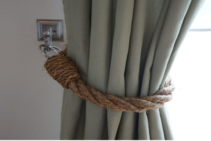 how to tie curtains up