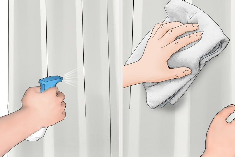 how to prevent mildew on shower curtains