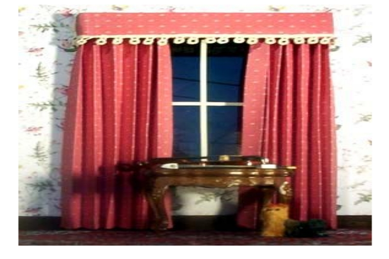 Making curtains for a doll's house