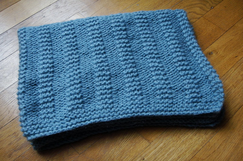 how to knit a baby blanket on a round loom