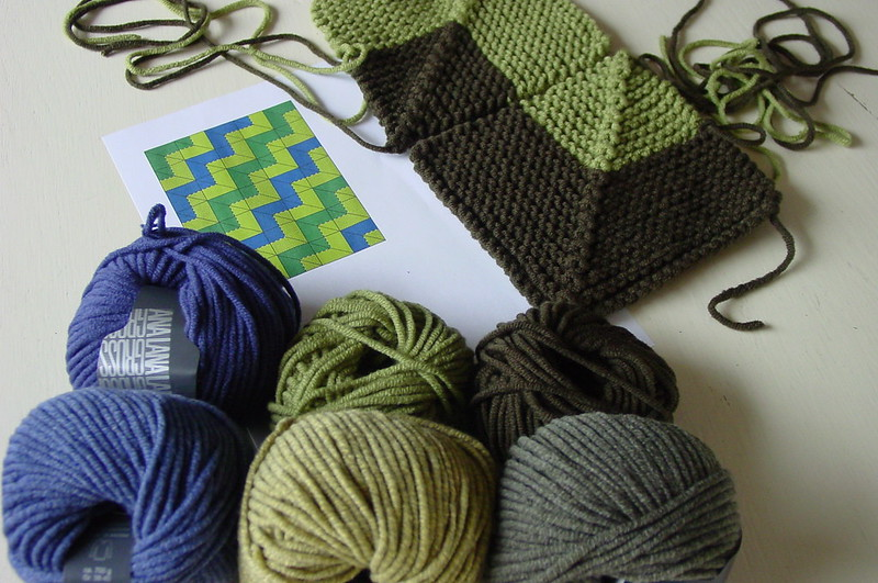 how to soften acrylic yarn blanket