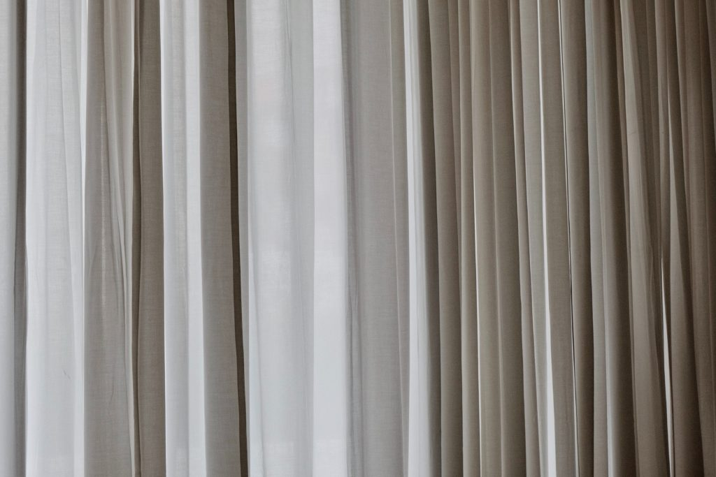 how to shorten sheer curtains