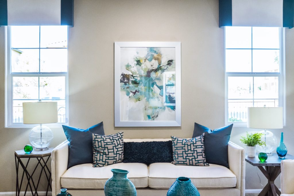 how to arrange pillows on a couch and loveseat
