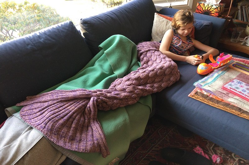 what size is a mermaid tail blanket