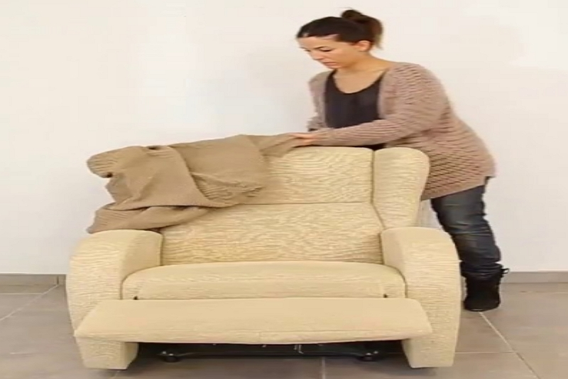 How to Put on a 4 Piece Recliner Slipcover