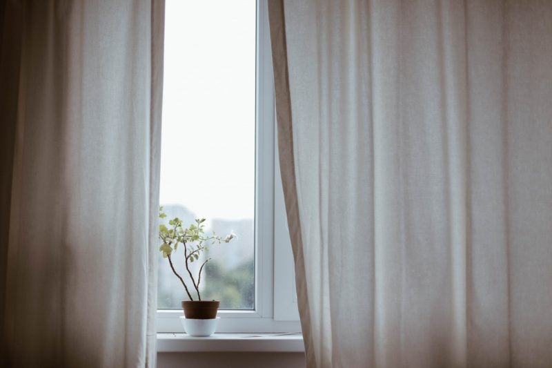 How to wash white sheer curtains