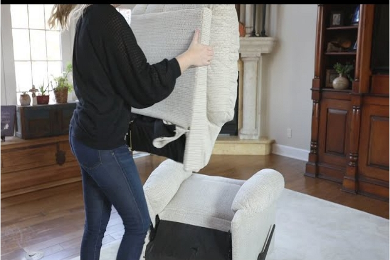 how to remove the back of a Raymour Flanigan recliner couch
