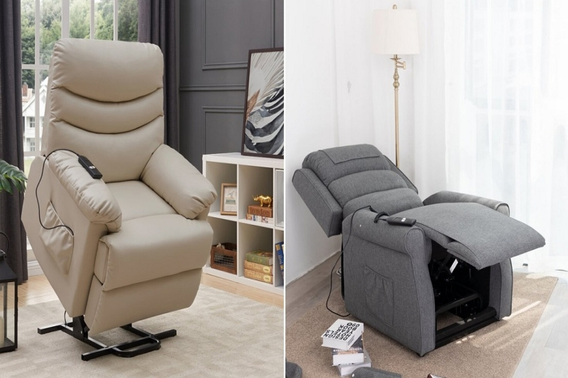 pads on the back of a lazy boy recliner lift up
