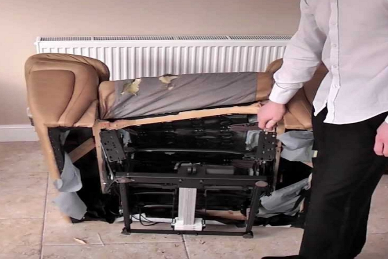 how to restuff a leather recliner cushion