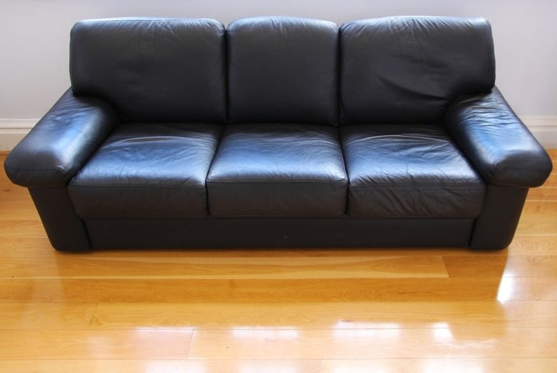 how to get urine out of leather sofa