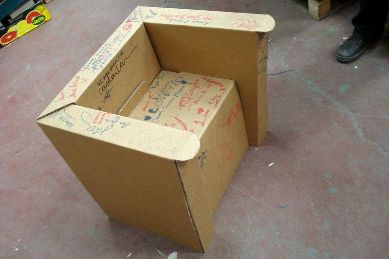 how to make a card board chair