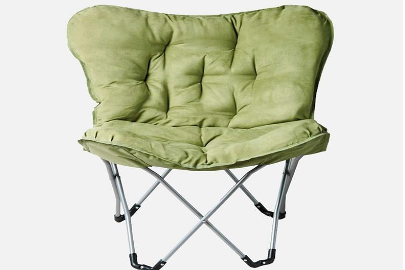 folding chair into a swivel