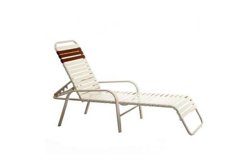 Vinyl Strap Patio Swivel Chair