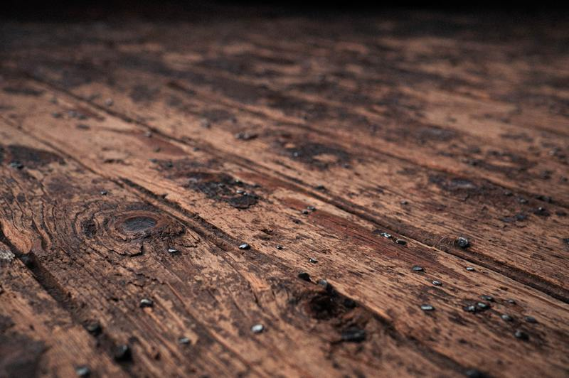how to fix water damaged wood table top