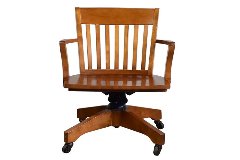 fix Pottery Barn wooden swivel chair
