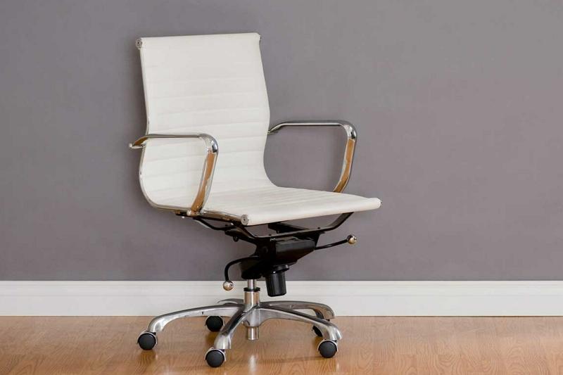 sliding on swivel office chair