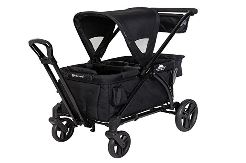 How to fold an Evenflo stroller wagon