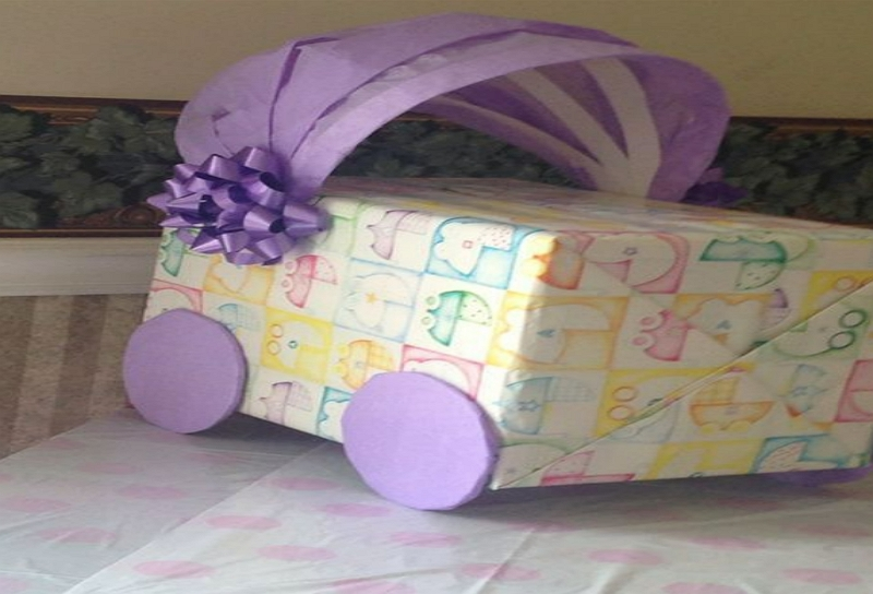 creative ways to wrap a stroller for baby shower