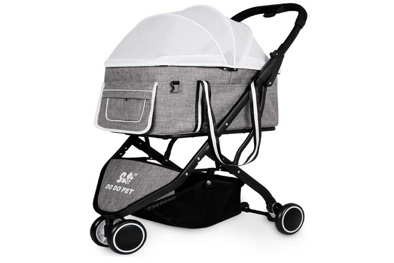 fold a pet gear stroller