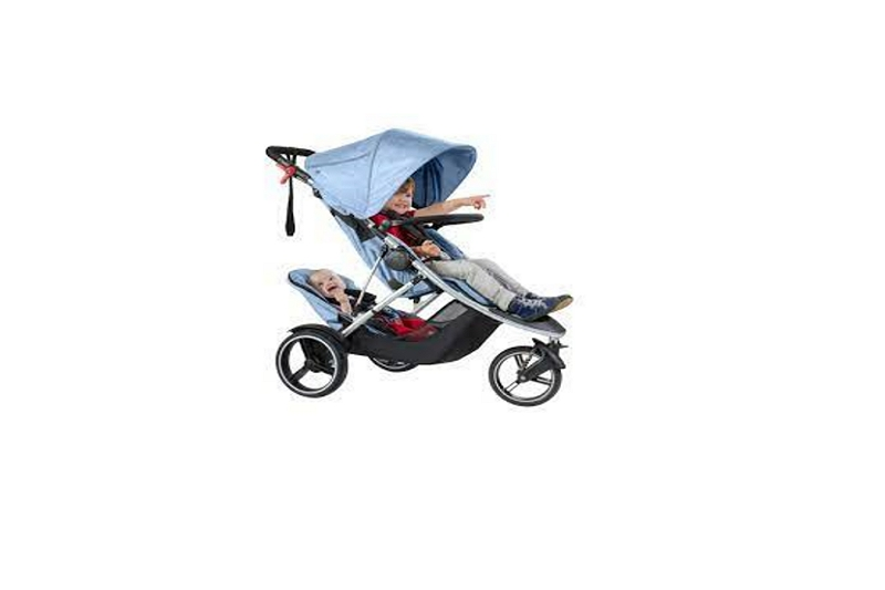 how to fold a double Phil and Ted stroller