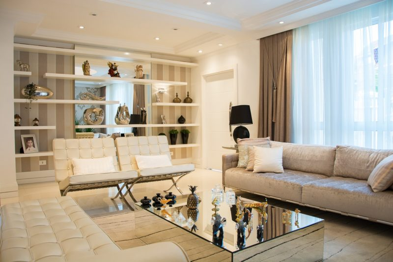 how to decorate with large country sofa and a loveseat