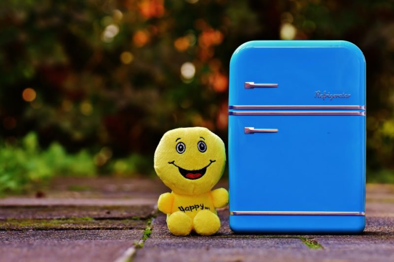 how many watts is a small fridge