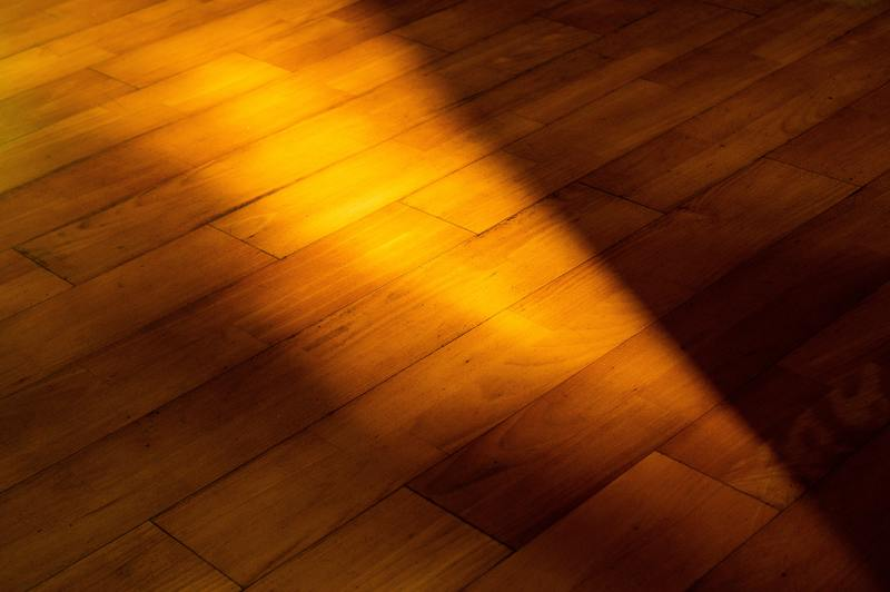how to bleach water damaged hardwood floor