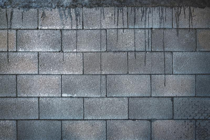 how to clean water damaged concrete masonry unit walls