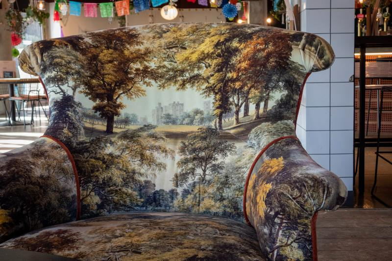 how to clean water damaged fabric chairs