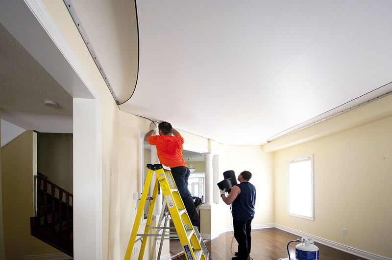 how to fix small water damaged hole drywall ceiling
