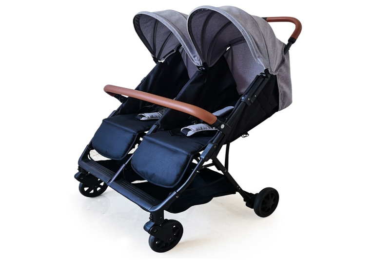 how to fold a double side by side stroller
