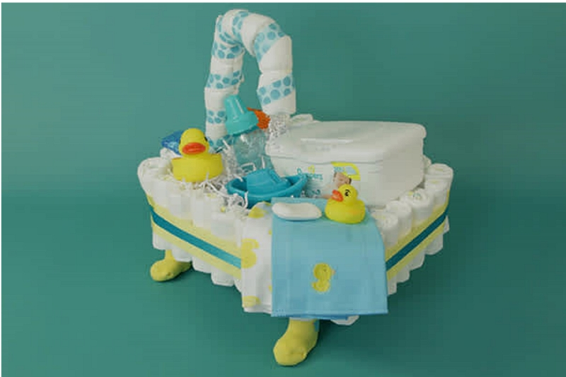 how to make a stroller diaper cake