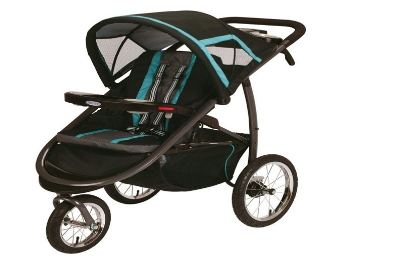 how to open a Graco FastAction jogger stroller