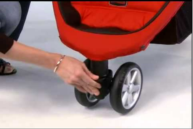how to put wheels on a stroller