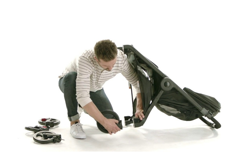 how to remove wheels from a Graco stroller