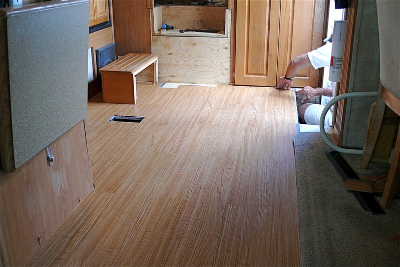 how to replace water damaged RV floors