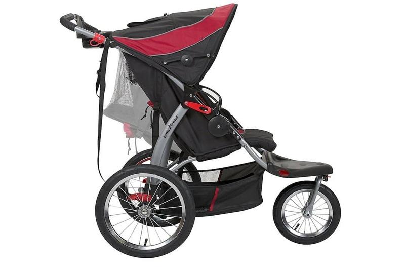 steps on folding a Baby Trend stroller