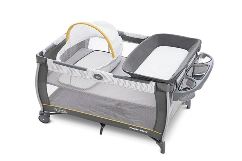 disassembling a pack and play bassinet