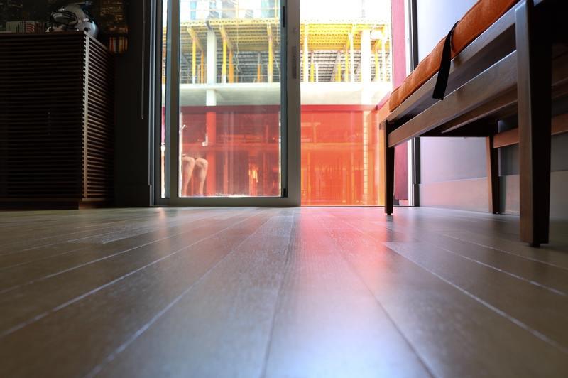 how to flatten water damaged floor