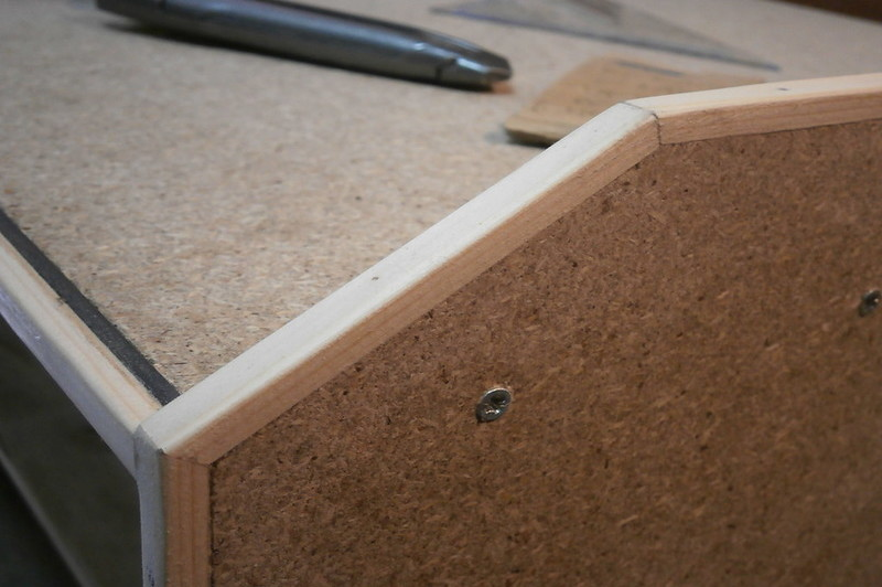 how to hide water damaged particle board